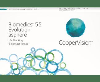 Biomedics 55 evolution (6 linser)
