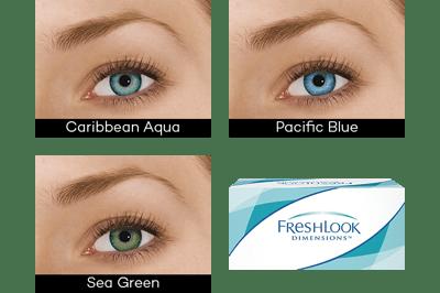 FreshLook DIMENSIONS (6 linser)